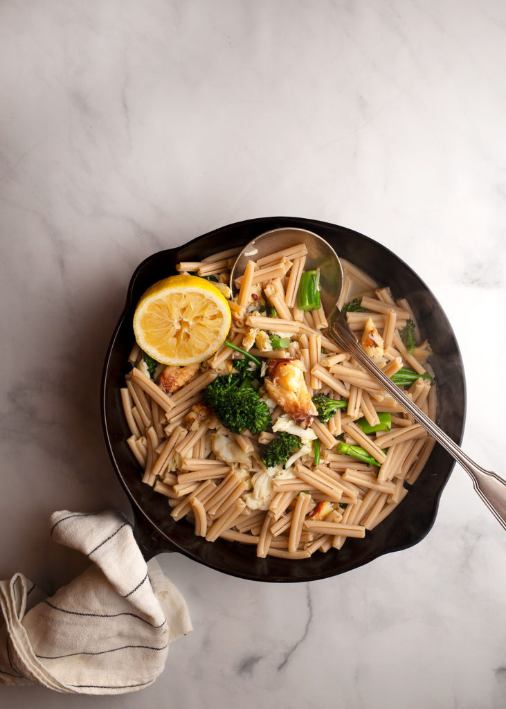 Crab Broccolini Lemon Pasta Tammy Circeo Chez Nous